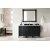 "60"" Black Onyx 3cm Carrara Marble Top Front View"