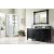"60"" Black Onyx 3cm Carrara Marble Top Angle View"