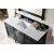 "60"" Black Onyx 3cm Carrara Marble Top Overhead View"