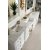 Bright White 3cm Carrara Marble Top Overhead View