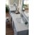 Silver Gray 3cm Carrara Marble Top Overhead View