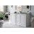Bright White 3cm Carrara Marble Top Illustration