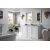 Bright White 3cm Carrara Marble Top Angle View