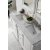 Bright White 3cm Carrara Marble Top Overhead View