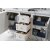 Bright White 3cm Carrara Marble Top Opened Angle View