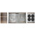 Home Refinements SmartStation Double Sink Set with Stainless Steel Undermount Sink and Walnut Accessories