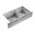 "JULIEN ProInox H0 Collection Undermount Double Bowl Kitchen Sink in Stainless Steel, 34""W x 18-1/2""D x 8""H"