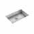 "JULIEN ProInox H0 Collection ADA Undermount 27"" Single Bowl Kitchen Sink in Stainless Steel"