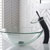 Kraus Clear Glass Vessel Sink and Waterfall Faucet Set, Oil Rubbed Bronze