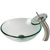 Kraus Clear Glass Vessel Sink and Waterfall Faucet Set, Satin Nickel