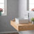 Kraus White Rectangular Ceramic Sink and Ramus Faucet, Chrome