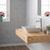 Kraus White Square Ceramic Sink and Ramus Faucet, Satin Nickel
