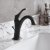 """Kraus Arlo™ Oil Rubbed Bronze Single Handle Basin Bathroom Faucet with Lift Rod Drain and Deck Plate, Faucet Height: 8"""", Spout Reach: 5"""""""