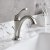 """Kraus Arlo™ Spot-Free all-Brite Brushed Nickel Single Handle Basin Bathroom Faucet with Lift Rod Drain and Deck Plate, Faucet Height: 8"""", Spout Reach: 5"""""""