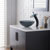 """Kraus Single Lever Vessel Glass Waterfall Faucet, Oil Rubbed Bronze with Black Clear Glass Disk and Matching Pop Up Drain, 13""""H"""