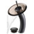 """Kraus Single Lever Vessel Glass Waterfall Faucet, Oil Rubbed Bronze with Brown Clear Glass Disk and Matching Pop Up Drain, 13""""H"""