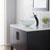 """Kraus Single Lever Vessel Glass Waterfall Faucet, Oil Rubbed Bronze with Frosted Glass Disk and Matching Pop Up Drain, 13""""H"""