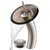 "Kraus Single Lever Vessel Glass Waterfall Faucet, Satin Nickel with Brown Clear Glass Disk and Matching Pop Up Drain, 13""H"
