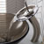 """Kraus Single Lever Vessel Glass Waterfall Faucet, Satin Nickel with Brown Clear Glass Disk, 13""""H"""