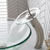 Kraus Single Lever Vessel Glass Waterfall Mixer, Satin Nickel