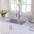 Kitchen Sink Set Angled View - Chrome