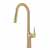 Kraus Brushed Gold Tall Oletto Kitchen Faucet Display View