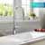 Kraus Chrome Tall Oletto Kitchen Faucet Lifestyle View 2