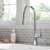 Kraus Chrome Tall Oletto Kitchen Faucet Lifestyle View
