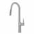 Kraus Stainless Steel Tall Oletto Kitchen Faucet Display View