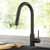 Kraus Matte Black Standard Oletto Kitchen Faucet Lifestyle View 2
