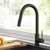 Kraus Matte Black Standard Oletto Kitchen Faucet Lifestyle View