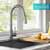Kraus Stainless Steel Standard Oletto Kitchen Faucet Lifestyle View 2