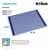 Kraus Dark Blue Drying Rack Dimensions