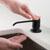 Matte Black Soap Dispenser Lifestyle View