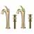 Brushed Gold - Faucet 2 Pack and Pop-up Drain