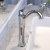 "Kraus Arlo™ Chrome Single Handle Vessel Bathroom Faucet with Pop Up Drain, Faucet Height: 12-1/8"", Spout Reach: 5"""