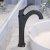 """Kraus Arlo™ Matte Black Single Handle Vessel Bathroom Faucet with Pop Up Drain, Faucet Height: 12-1/8"""", Spout Reach: 5"""""""