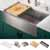 Satin Stainless Steel - 30'' - 36'' LifestlyeView w/ Included Items