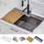 """Stainless Steel - 25"""" - 30'' Sink and Accessory View"""