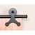 Knape & Vogt Sliding Door Hardware Atlantis Short Bracket Aluminum Round Track Component Kit in Multiple Finishes - Track sold seperately