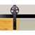 """Knape & Vogt 5"""" Side Mount Hook Carriers, Flat Rail Sliding Door Hardware Kit, Black"""