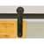 """Knape & Vogt 3"""" Side Mount Strap Carriers, Flat Rail Sliding Door Hardware Kit, Black"""