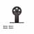 "Knape & Vogt 3"" Top Mount Carriers, Flat Rail Sliding Door Hardware Kit, Black"