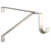 "Knape & Vogt 13-Gauge Steel Wall Mounted Shelf Bracket with Closet Rod Support in Cream, 1"" W x 11"" D x 8"" H"