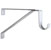 "Knape & Vogt 13-Gauge Steel Wall Mounted Shelf Bracket with Closet Rod Support in White, 1"" W x 11"" D x 8"" H"