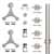 "Knape & Vogt 78-3/4"" Face Mount Strap Triangle Kit, Stainless Steel"