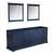 Navy Blue - Base Cabinet With Mirror
