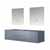"""Lexora Home Geneva 72"""" Dark Grey Double Vanity Base Only With 30"""" LED Mirrors, 71-1/4""""W x 21-1/2""""D x 18-1/4""""H"""