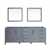 Dark Grey - Base Cabinet With Mirrors