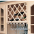 Cabinet Mount Deluxe Wine Bottle Lattice